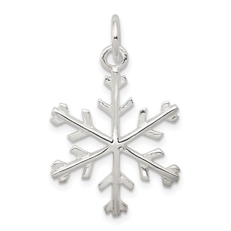 925 Sterling Silver Snowflake Shaped Pendant - image 2 of 2