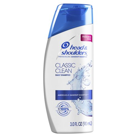 Head and Shoulders Classic Clean Daily-Use Anti-Dandruff Paraben Free Shampoo, 3 fl oz