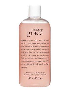($26 Value) Philosophy Amazing Grace Shampoo, Bubble Bath & Shower Gel, 16 Oz