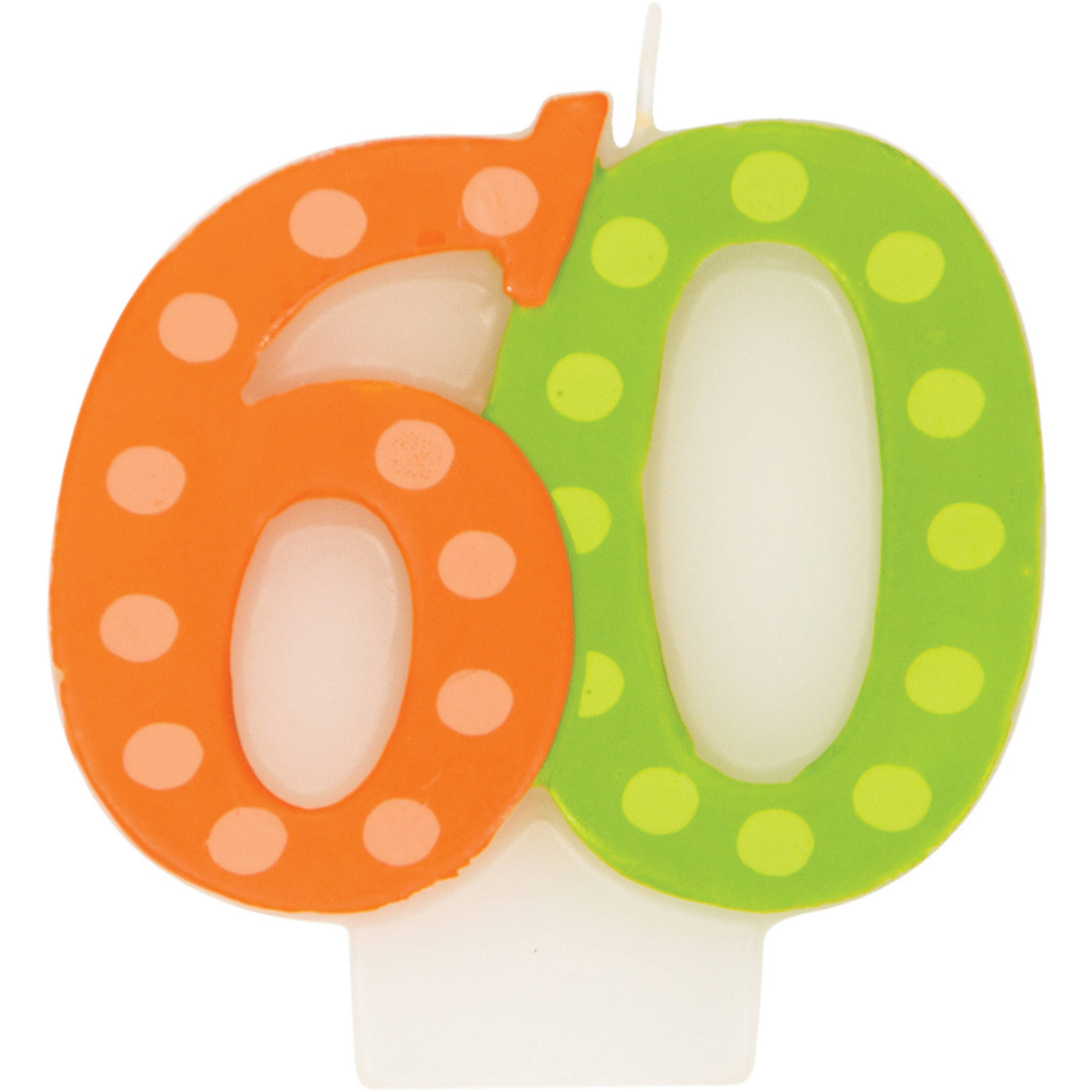 Bright And Bold 60th Birthday Candle