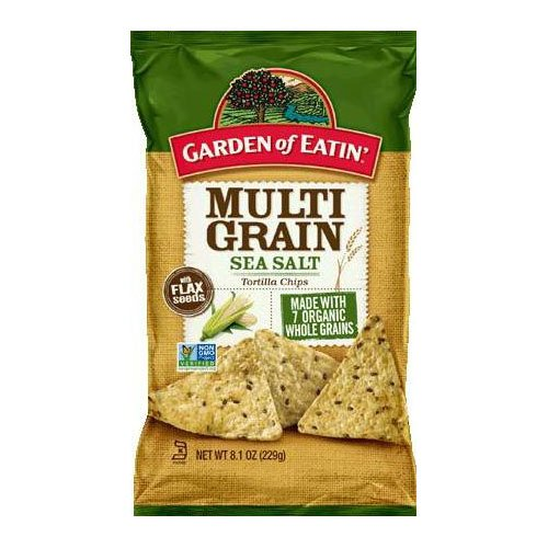 Garden of Eatin' Multi Grain Sea Salt Tortilla Chips, 8.1 oz