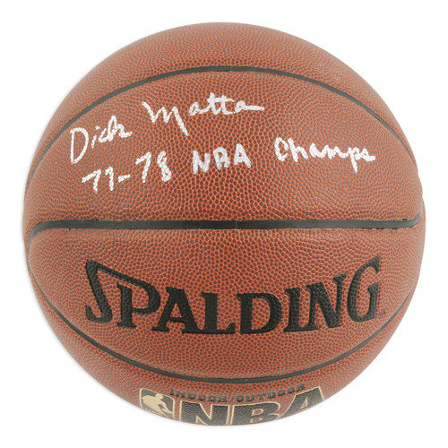 Mounted Memories Dick Motta Autographed Indoor/Outdoor Basketball with 77-78 NBA Champs Inscription
