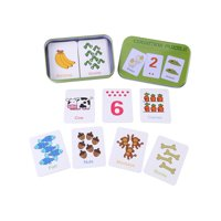 HERCHR Cute Baby Kid Children Early Learning Iron Box Match Game Puzzle Cards Enlightment Toy Boy Girl, Matching Game, Iron Box Cards