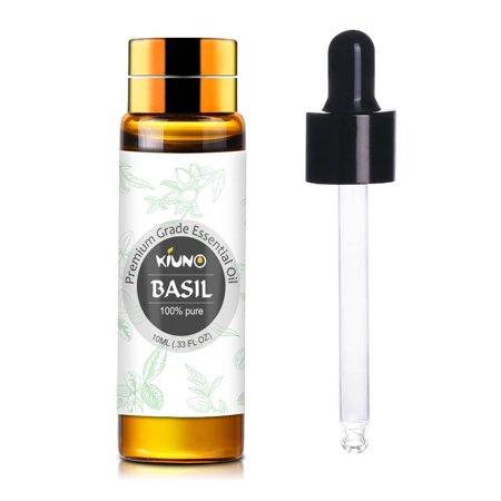 KIUNO Basil Essential Oil 100% Pure Aromatherapy Fragrance Aroma With 1 Dropper