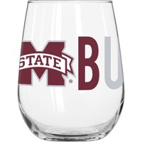Mississippi State University 16 oz. Overtime Curved Beverage Glass