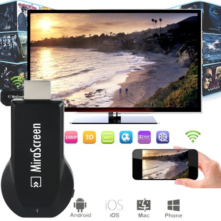 2.4G Wifi Wireless Display Dongle Receiver Adapter MiraScreen Miracast 1080P Air Play DLNA HDTV Media Streamer HD WIFI Connector TV Dongle DLNA For Android Phone