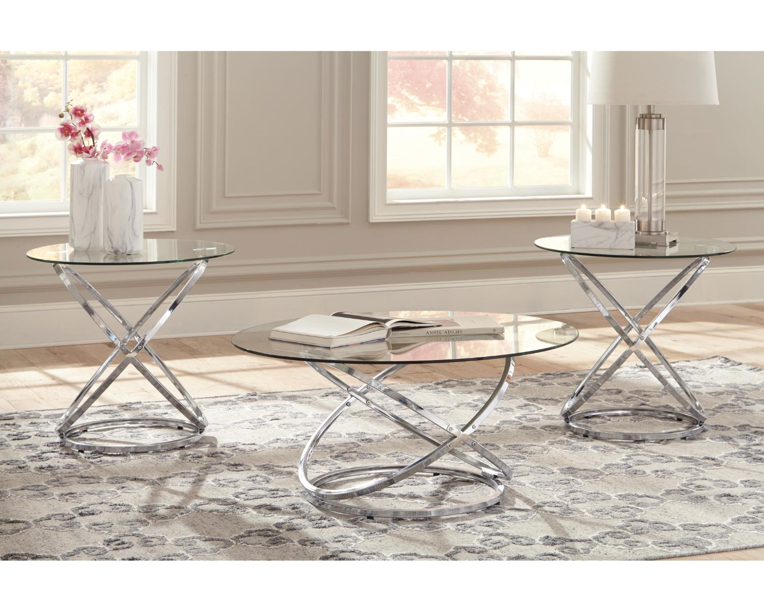 Signature Design By Ashley Hollynyx, Living Room Table Set