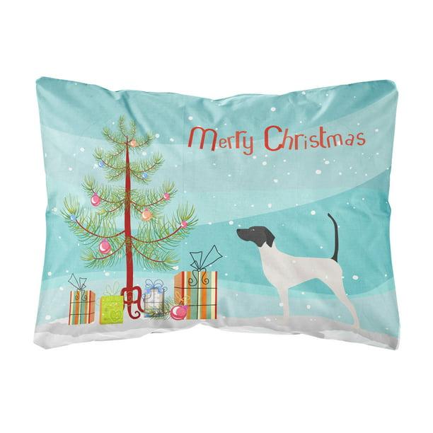 English Pointer Merry Christmas Tree Canvas Fabric Decorative Pillow Walmart Com Walmart Com