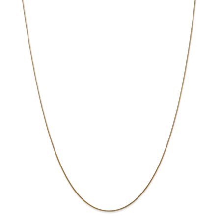 14K Yellow Gold 0.80MM Round Snake Link Anklet Bracelet (9 Inches) MSRP $287