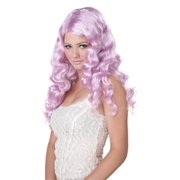 Lavender Purple Sweet Tart Long Costume Wig Adult One Size