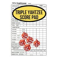 Triple Yahtzee Score Pad (Paperback)