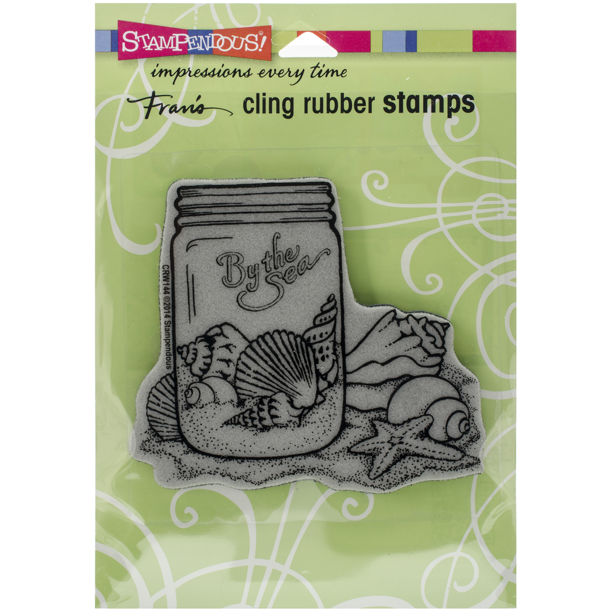 "Stampendous Cling Stamp 4.75""X4.5""-Seashell Jar"
