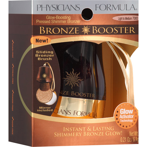 Physicians Formula Bronze Booster Glow Boosting Pressed Shimmer Bronzer, Light To Medium - 0.21 Oz
