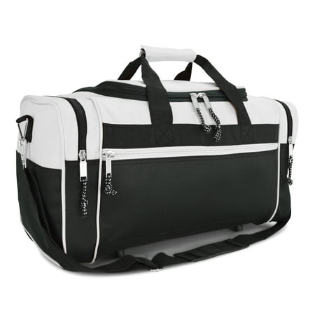 "DALIX 19"" Sports Duffle Bag Gym Travel Pack in Black"