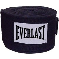 "Everlast 108"" Boxing Handwraps, Black, 1 Pair"