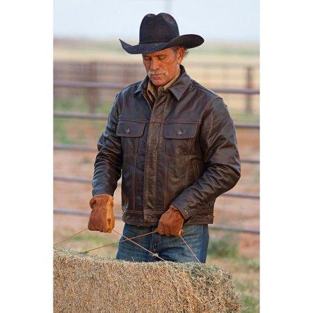 Sts Ranchwear By Carroll Mens Maverick Leather Jacket   Sts5373