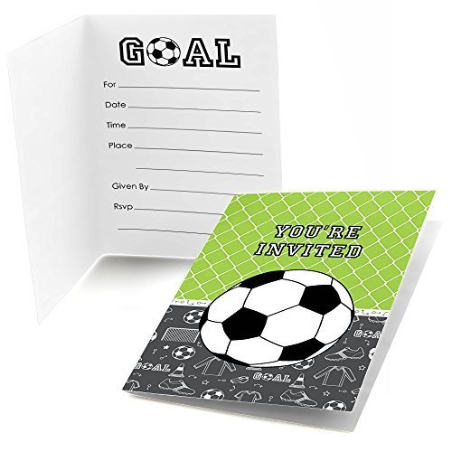 GOAAAL! - Soccer - Fill In Baby Shower or Birthday Party Invitations (8 count)