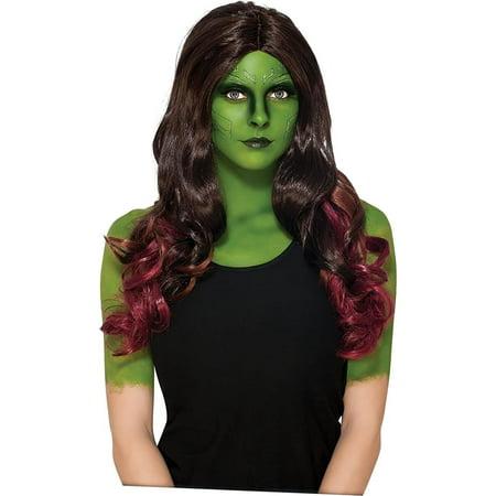 Guardians of the Galaxy Vol 2 Gamora Wig Adult Costume Accessory - image 1 de 1