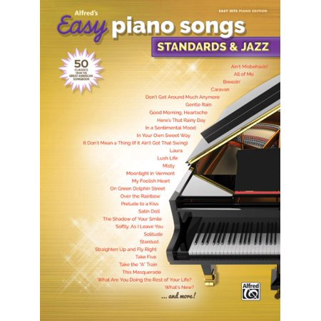 Alfred's Easy Piano Songs -- Standards & Jazz : 50 Classics from the Great American Songbook - Creepy Halloween Piano Songs