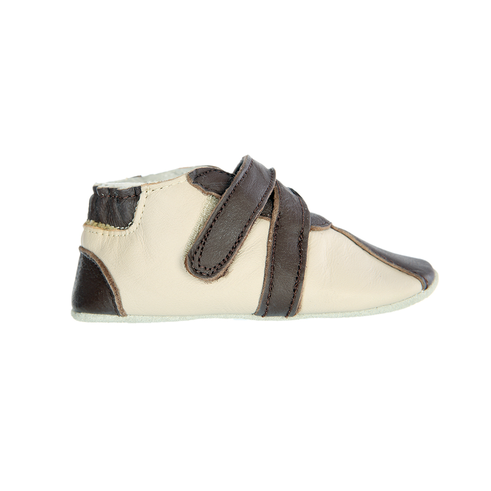 Tickle Toes Boys Leather Brown Shoes 3833