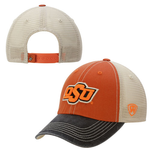 Oklahoma State Cowboys Top of the World Offroad Trucker Adjustable Hat - Black