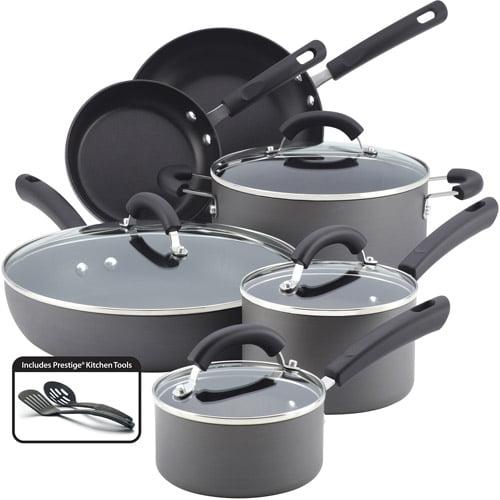 Farberware Dishwasher Safe 12-Piece Hard Anodized Cookware ...