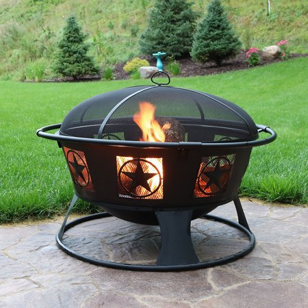 Sunnydaze Endless Nights Large Wood-Burning Fire Pit with ...