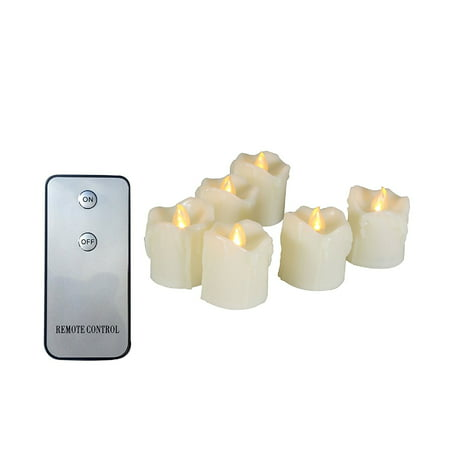 Candle Choice 6 PCS Realistic Flickering Flameless Candle, Battery Operated Votives, Votive Candles with Remote, Long Battery Life, Battery Included, 1.5