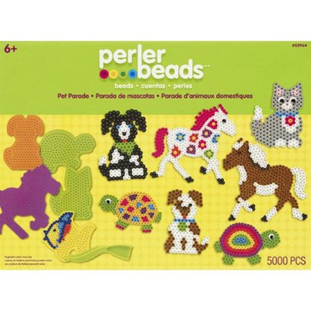 Halloween Perler Designs (53964 Fused Bead Kit Box Pet Parade (5000 Pieces), Perler Fused Bead Kits let you create fun, colorful designs and will keep everyone busy for.., By)
