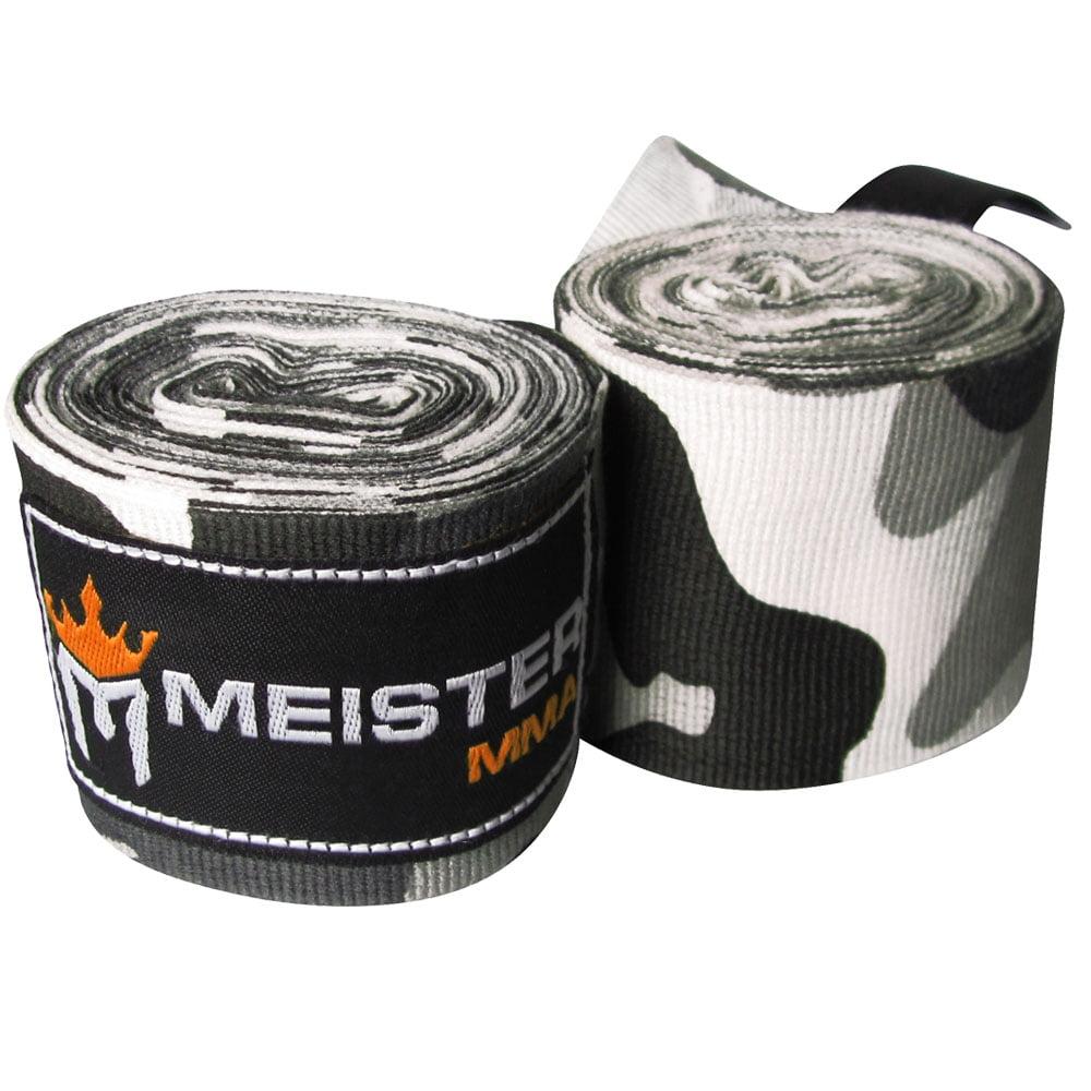 "Meister 180"" Semi-Elastic MMA Hand Wraps (Pair) - Camo Urban"