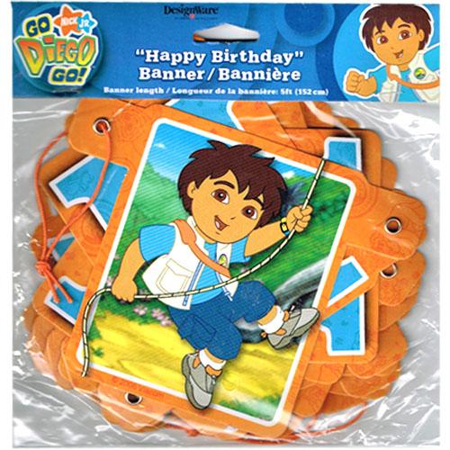 Go Diego Go! Happy Birthday Party Banner (1ct)