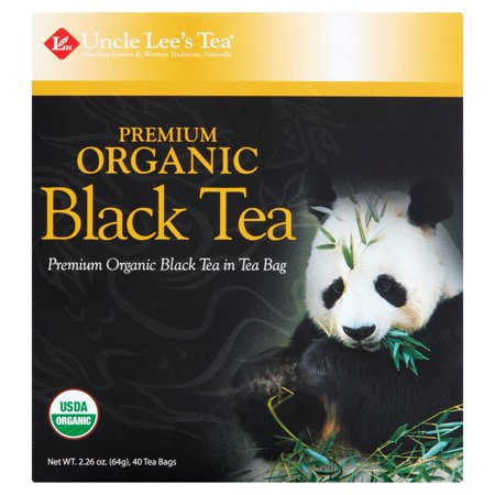 (3 Boxes) Uncle Lee's Tea Premium Organic Black Tea, 40 count, 2.26 - Organic Tea