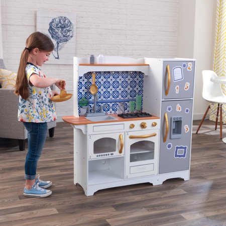 KidKraft Mosaic Magnetic Play Kitchen with EZ Kraft Assembly™