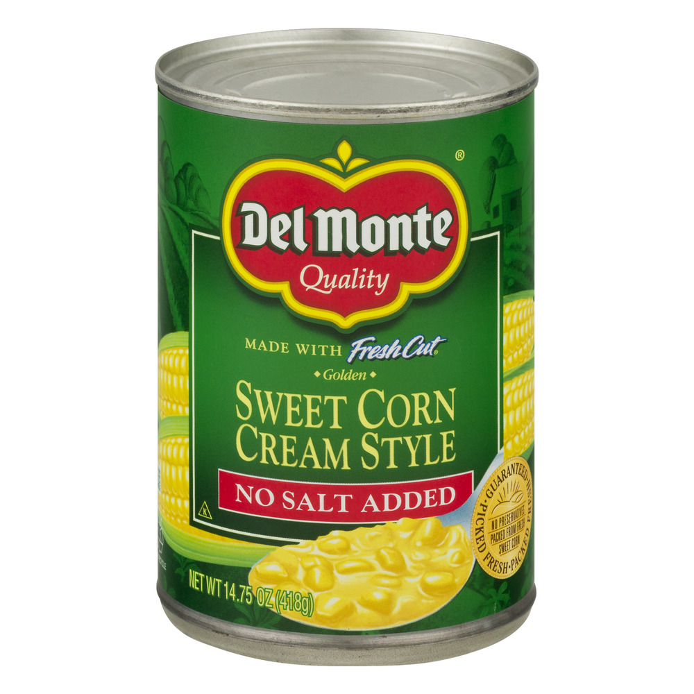 Del Monte Fresh Cut Golden Sweet Corn Cream Style No Salt Added, 14.75 OZ