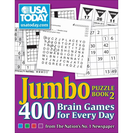 USA TODAY Jumbo Puzzle Book 2 : 400 Brain Games for Every Day - Everyday Is Halloween For Us