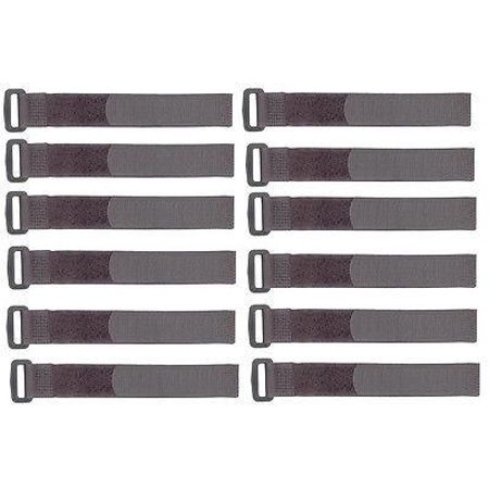 12 Pack Hook and Loop Tie Down Straps