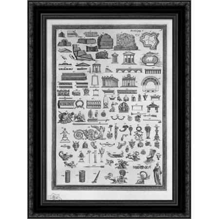 Etruscan monuments of various kinds relating to sacred uses, public, private, war, and ornaments used in the aforementioned 20x24 Black Ornate Wood Framed Canvas Art by Piranesi, Giovanni Battista ()