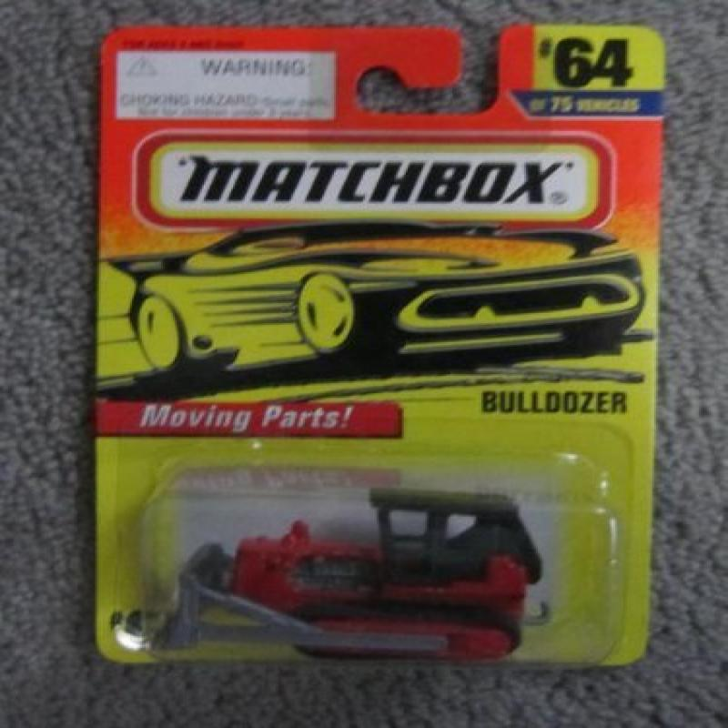 Matchbox 2012-33 MBX Construction Ground Breaker (Bulldozer) Yellow with Orange Plow 1:64 Scale