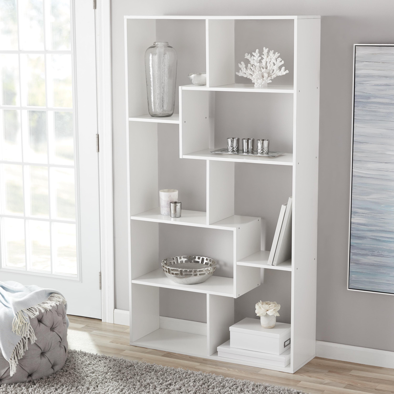 Cube Shelving Unit Tall Narrow Bookcase 8 Shelf Display Case Media Storage Open 827164855518 Ebay