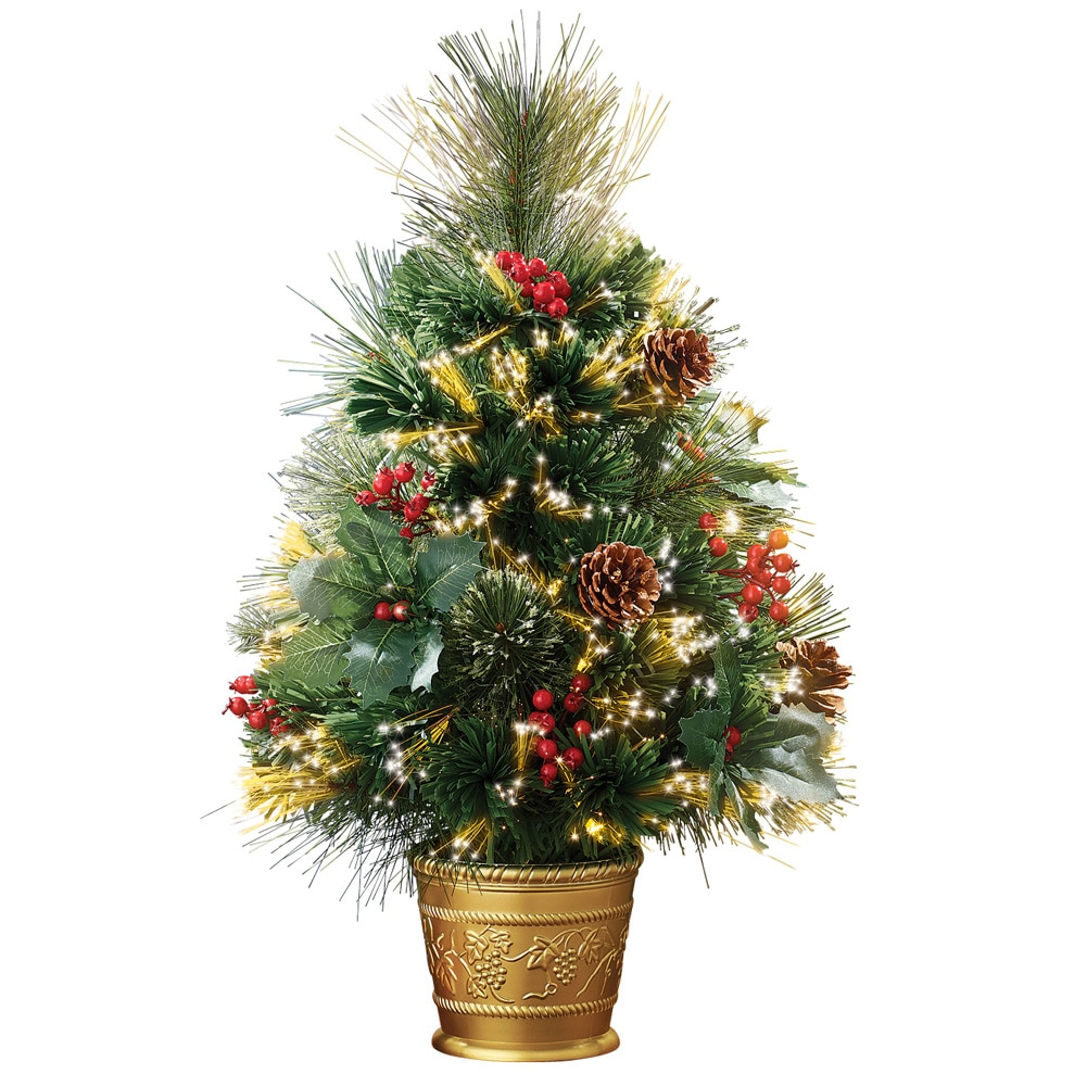 Pine Tabletop Christmas Tree with Fiber Optics