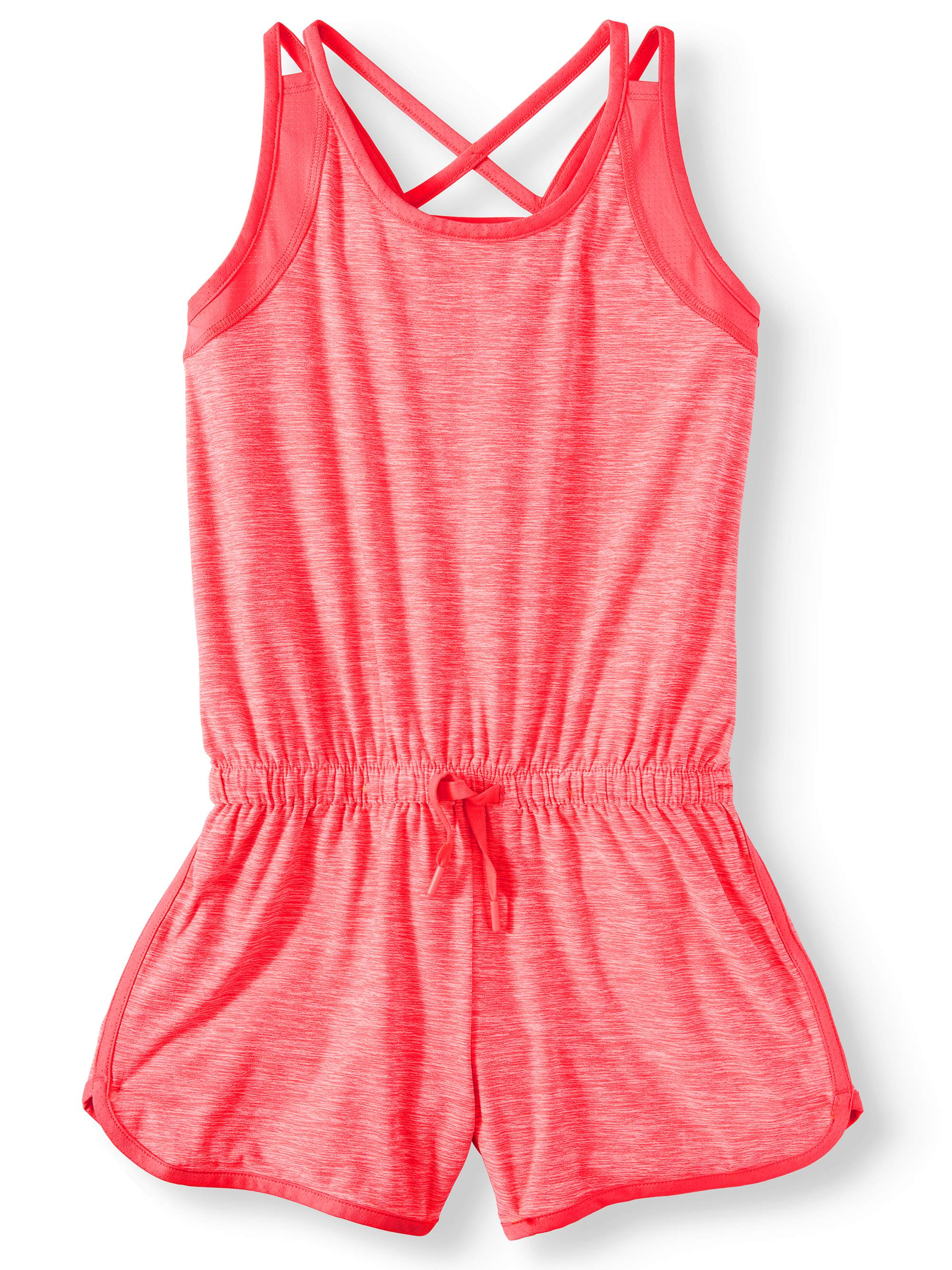 Heathered Racerback Active Romper (Little Girls & Big Girls)
