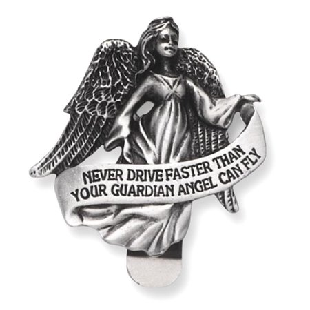 ICE CARATS Pewter Finish Guardian Angel Visor Clip Religious Travel Fashion Jewelry Ideal Gifts For Women Gift Set From Heart