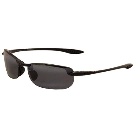 626e872108 Maui Jim Sunglasses | Makaha Reader G805-0220 | Gloss Black Rimless Frame,  Polarized Neutral Grey Lenses, with Patented PolarizedPlus2 Lens Technology  ...