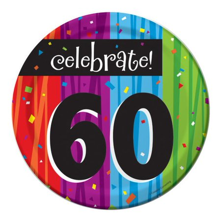 60th Birthday Favor Ideas (Party Creations Milestone 60th Celebrations Lunch Plate, 7