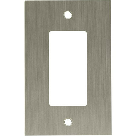 Franklin Brass Concave Single/GFCI Decorator Wall Plate in Satin Nickel