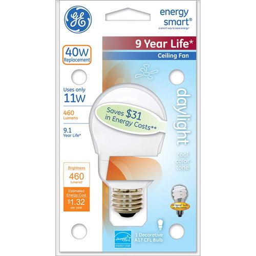 GE energy smartᅡᆴ CFL 11 watt A17 1-pack