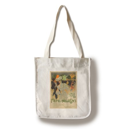 Fete de Neuilly Vintage Poster (artist: Misti) France c. 1903 (100% Cotton Tote Bag - (Misti Alpaca Pima Cotton & Silk Hand Paint)