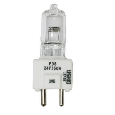 USHIO FDS / DZE 150W T4 GY9.5 Base 24V Halogen Lamp Bulb (24v 250w Halogen Lamp)