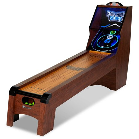MD Sports 9 Ft. Roll and Score Table, Arcade Game, Includes 4 Skee Ball, LED light