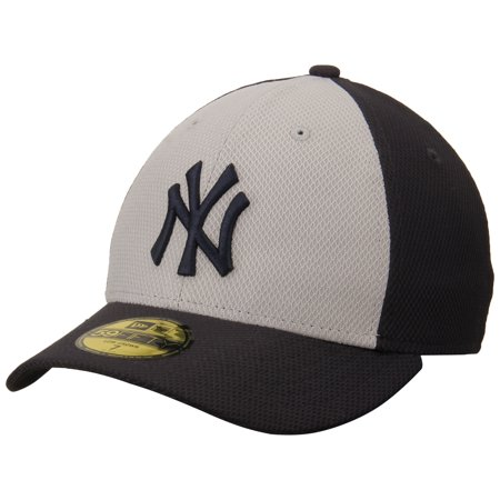 New York Yankees New Era Road Diamond Era Low Profile 59FIFTY Fitted Hat - Gray/Navy